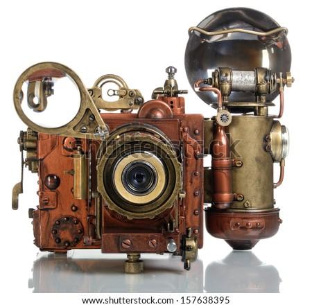 Copper Photo camera.. Style Steampunk. #157638395