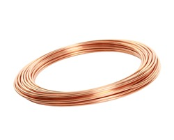 copper pipes on white background
