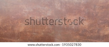copper plate texture metal pattern surface background design with a circular texture Aged plate texture, old worn metal, brown color cement wall Foto stock ©