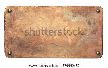 copper plate with rounded...
