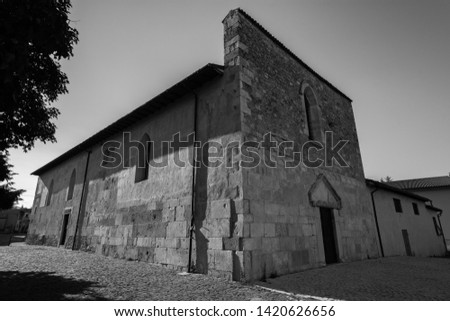 Coppito, L'Aquila, Abruzzo.  Church of St. Peter the Apostle.  It is considered the most ancient of the churches in the intra moenia area, because it was built on the site of a previous temple. #1420626656
