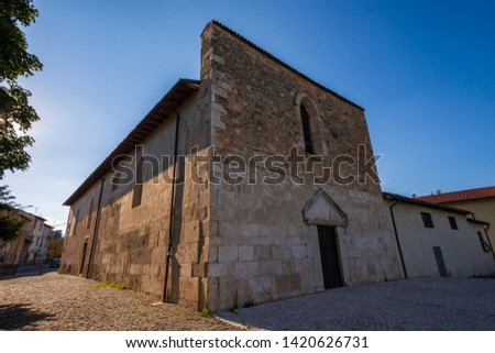 Coppito, L'Aquila, Abruzzo.  Church of St. Peter the Apostle.  It is considered the most ancient of the churches in the intra moenia area, because it was built on the site of a previous temple. #1420626731