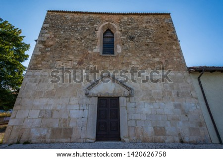 Coppito, L'Aquila, Abruzzo.  Church of St. Peter the Apostle.  It is considered the most ancient of the churches in the intra moenia area, because it was built on the site of a previous temple. #1420626758