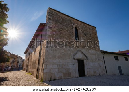 Coppito, L'Aquila, Abruzzo.  Church of St. Peter the Apostle.  It is considered the most ancient of the churches in the intra moenia area, because it was built on the site of a previous temple. #1427428289