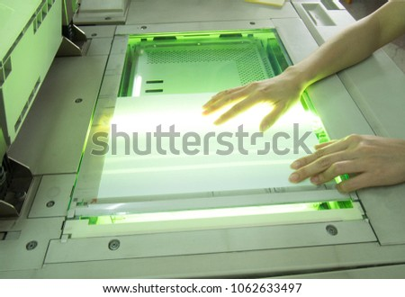 Copying document paper by copy machine