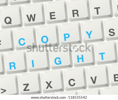 copyright concept. word on computer keyboard to illustrate the concepts.