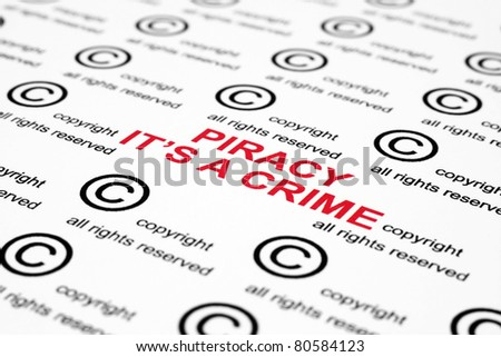 Copyright piracy - stock photo
