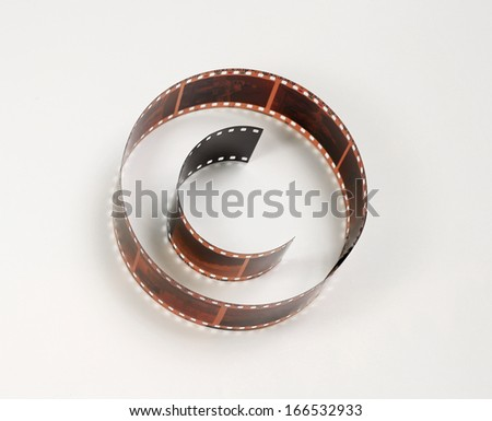 Copyright sign shaped photo film, concept of protect visual art work - stock photo