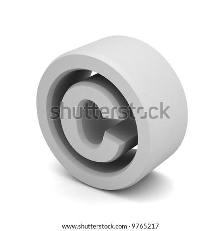 copyright symbol - stock photo