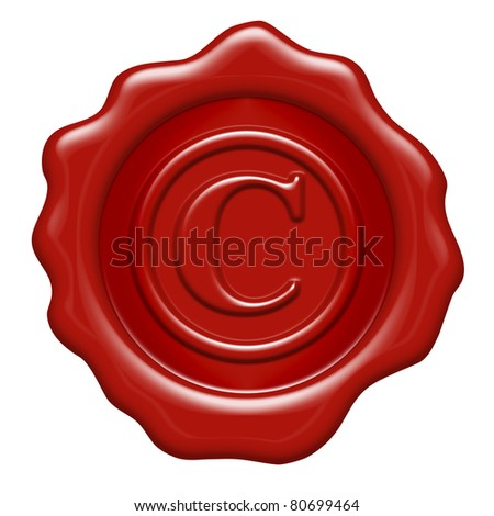 Copyright Symbol as a wax seal
