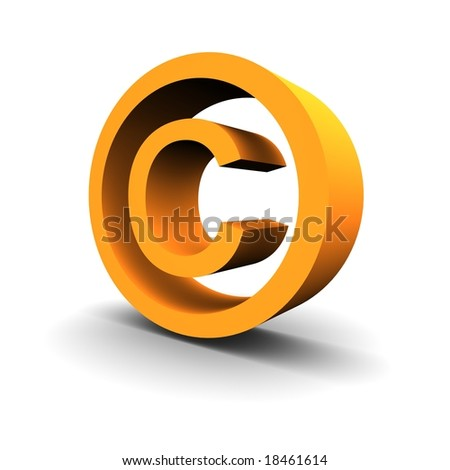 Copyright symbol 3d rendered image - stock photo