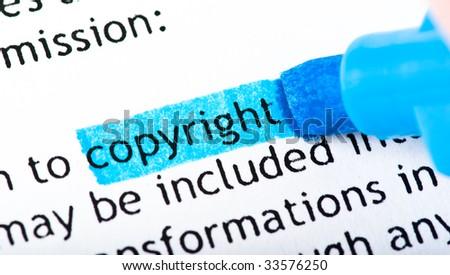 copyright word text
