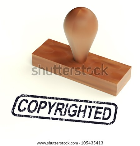 Copyrighted Rubber Stamp Shows Patent