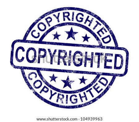 Copyrighted Stamp Showing Patent Or Trademarks