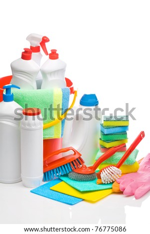copyspace cleaning supplies composition