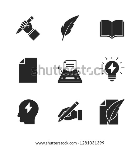 Copywriting black icons on white background #1281031399