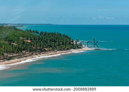 Coqueirinho Beach, Conde, near João Pessoa, Paraiba, Brazil on March 10, 2010. Stockfoto ©