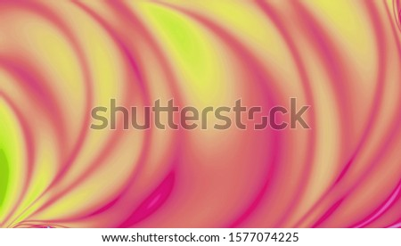 Coral, yellow, pink, amber gradient mesh ray background. Abstract blurred smooth image. Smooth blend banner template. Iridescent holographic neon wallpaper