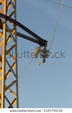Corbels and straight body wiring of high voltage or medium voltage tower #1525744136