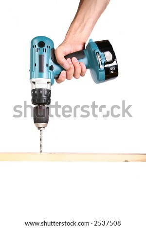 Cordless Drill - Isolated on White