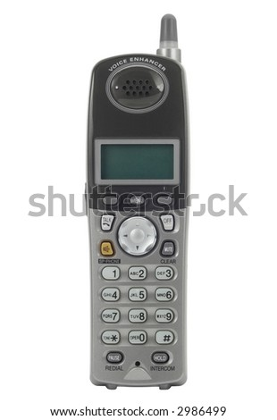 Cordless phone isolated on white.