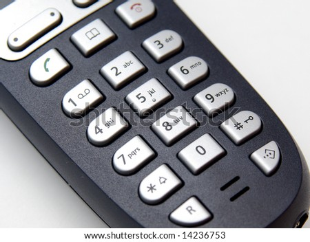 cordless phone keyboard closeup