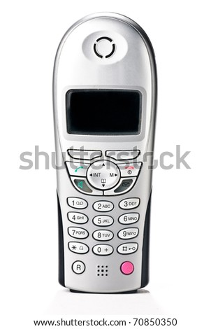 cordless telephone isolated against a white background