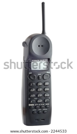 cordless telephone isolated on white with clipping path