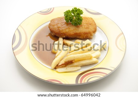 Cordon blue with Fries