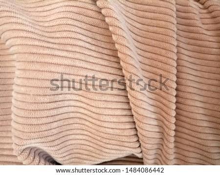 Corduroy fabric, texture, beige, beige velvet #1484086442