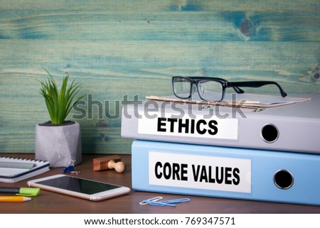 core values and ethics. Successful business and career background. Stock photo ©