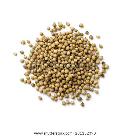 Coriander seeds isolated on white background  #281132393
