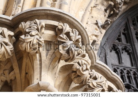 Corinthian column - stock photo