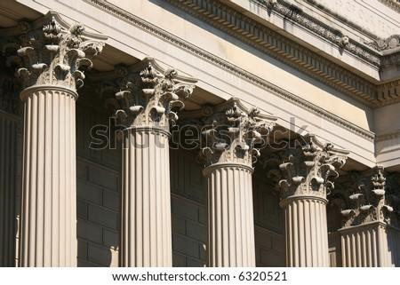 Corinthian Columns, National Archive, Washington DC - stock photo