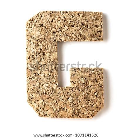cork.alphabet.letter G on white #1091141528