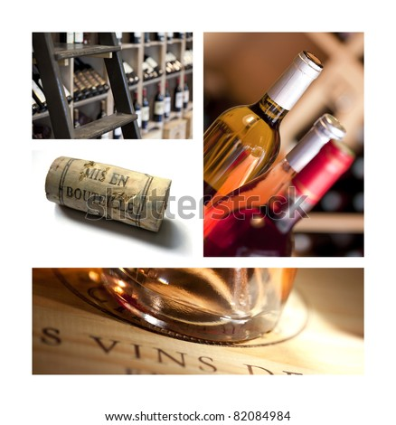 Cork and wine bottles in a wine shop Stockfoto ©