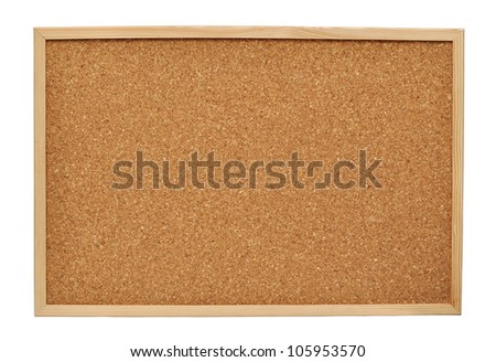 cork board isolated on white background Foto d'archivio ©