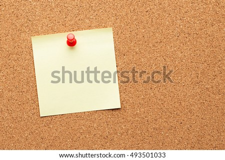 cork board with blank notes Foto stock ©