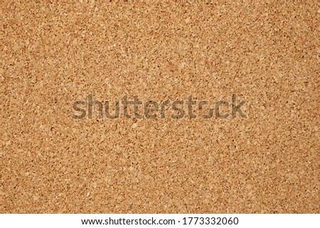 Cork board with copy space. Brown color of cork board. Textured wooden background. Notice board or bulletin board image.