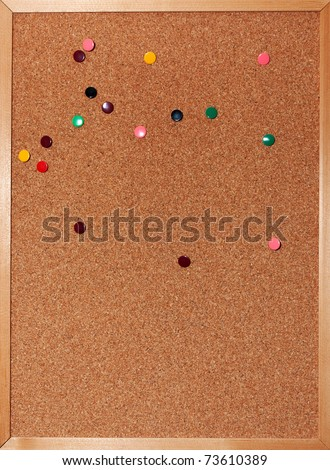 Cork board with tacks