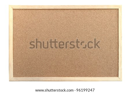 Cork board with wooden frame Foto d'archivio ©