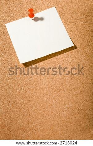 cork borad, white postit, tack