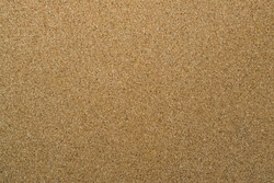 Cork Bulletin Board Surface Texture. Empty Blank Brown Wood Corkboard.