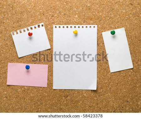 Cork bulletin board with notes. Foto stock ©