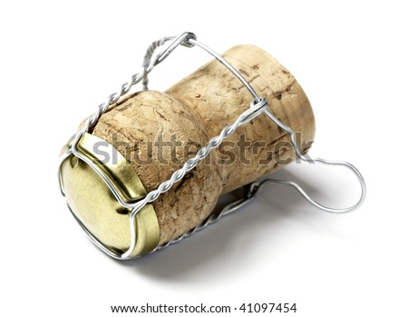cork from champagne - stock photo