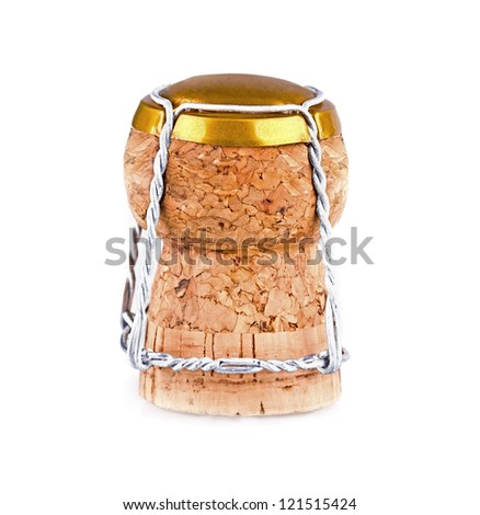 cork from the bottle of wine on a white background