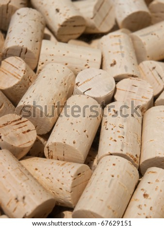 Cork  / Many cork closeup