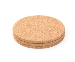 Cork mat on white background