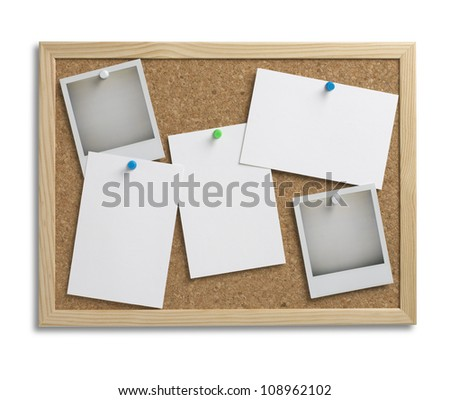 cork notice board with copy space with clipping path 1