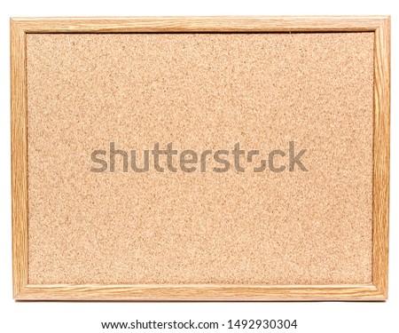 Cork noticeboard isolated on white background Stock photo ©